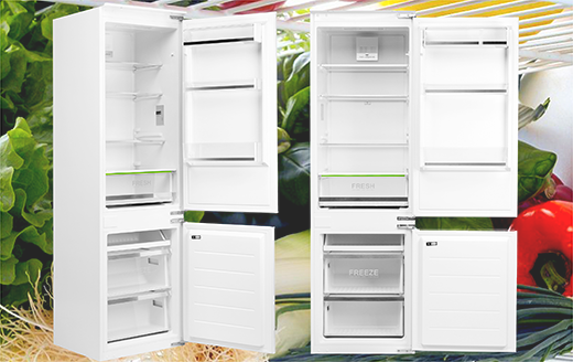 Вбудований холодильник — органічний елемент інтер'єру кухні